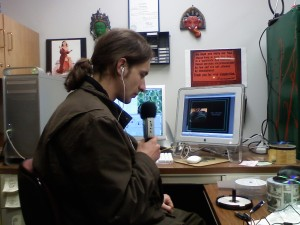 Nick doing Audio Commentary